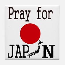 Pray for Japan Tile Coaster