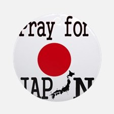 Pray for Japan Round Ornament