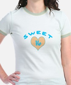 Blue Heart Sweet 16 T