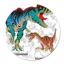 Giganto  Velociraptor Round Car Magnet