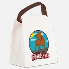 Tripawds Rock Front Leg Pit Bull Canvas Lunch Bag