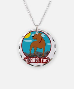 Tripawds Rock Front Leg Pit  Necklace