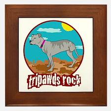 Tripawds RockRear Leg Pit Bull Framed Tile