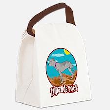 Tripawds RockRear Leg Pit Bull Canvas Lunch Bag