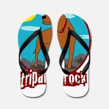 Trpawds Rock Three legged Pitbull Front Flip Flops