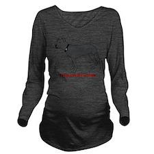 Tripawd Pitbull Rear Long Sleeve Maternity T-Shirt