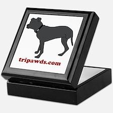 Tripawd Pitbull Rear Leg Keepsake Box