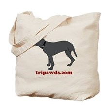 Tripawd Pitbull Rear Leg Tote Bag