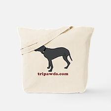 Tripawd Pitbull Rear Leg Tote Bag