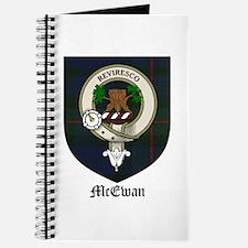 McEwan Clan Crest Tartan Journal