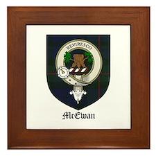 McEwan Clan Crest Tartan Framed Tile