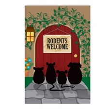welcomerodents12 Postcards (Package of 8)