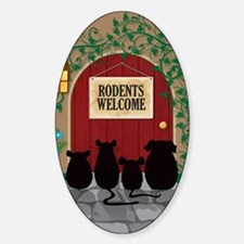 welcomerodents12 Sticker (Oval)