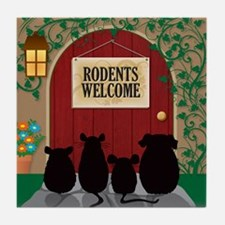 welcomerodents12 Tile Coaster