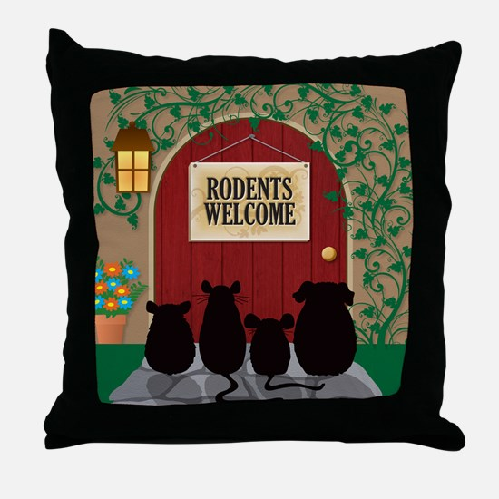 welcomerodents12 Throw Pillow