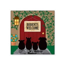 "welcomerodents12 Square Sticker 3"" x 3"""