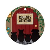 Rodents welcome Round Ornaments