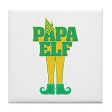 Papa Elf Tile Coaster