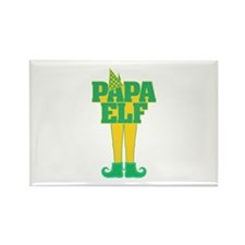 Papa Elf Rectangle Magnet