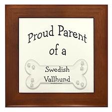 Vallhund Proud Parent Framed Tile
