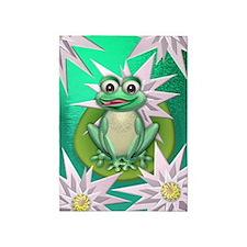 Princess frog 5'x7'Area Rug