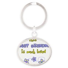 This great Grandma Blue flowers Oval Keychain