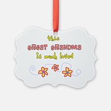 this great grandma salmon flowers Ornament