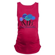 Great Grandmother blue trees Maternity Tank Top