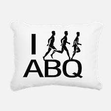 I Run ABQ Rectangular Canvas Pillow