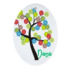 Nana Tree Bubbles Oval Ornament