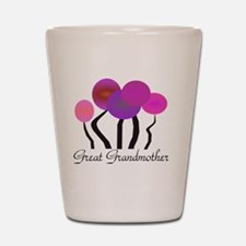 Great Grandmother pink trees Shot Glass