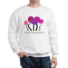 Great Grandmother pink trees Sweatshirt