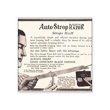 "1909 AutoStrop Safety Razor Square Sticker 3"" x 3"""