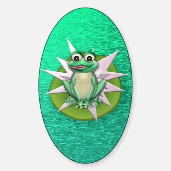 Princess frog Sticker (Oval)