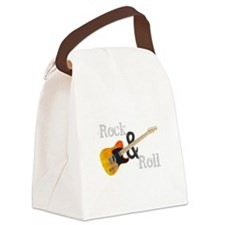 Rock and Roll Guitar Canvas Lunch Bag