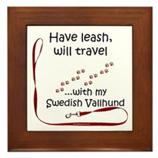 Vallhund Travel Leash Framed Tile