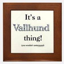 Vallhund Thing Framed Tile