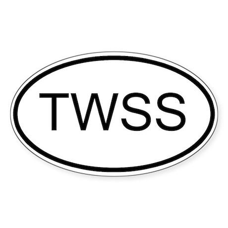 TWSS Oval Sticker