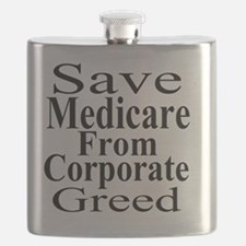 Save Medicare from Greed-wt bk Flask