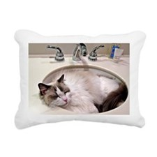 Bentley in sink3 Rectangular Canvas Pillow