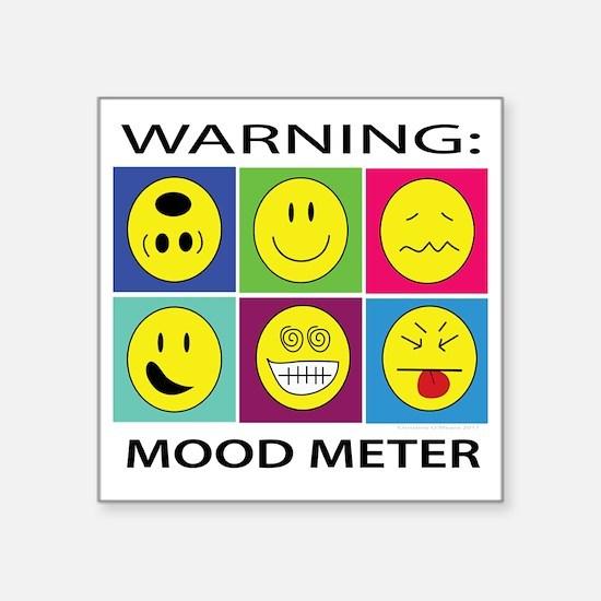 "mood meter2 Square Sticker 3"" x 3"""