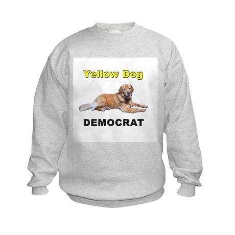 Yellow Dog Democrat Kids Sweatshirt