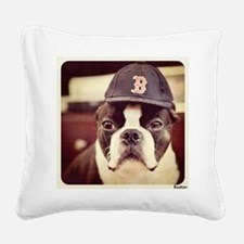 Boston Fan Square Canvas Pillow