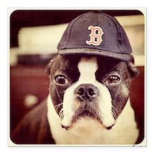 """Boston Fan Square Car Magnet 3"""" x 3"""""""