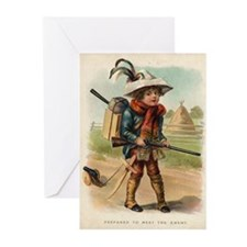 Cute Military children Greeting Cards (Pk of 10)