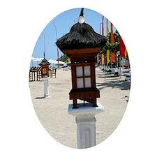 BaliBeach Oval Ornament