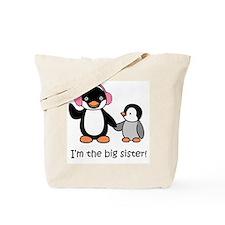 Big Sister - Penguin Tote Bag
