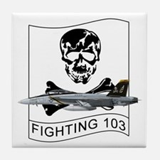 VFA-103 Jolly Rogers Tile Coaster