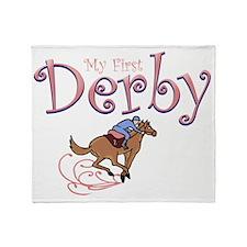 my first derby girl Throw Blanket