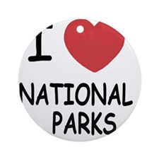 NATIONAL_PARKS Round Ornament